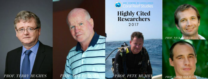 Highly Cited Researchers of ARC CoE for Coral Reef Studies