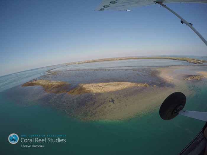 Aerial reef survey of Western Australia's Kimberely Region. Image: Prof Steeve Comeau