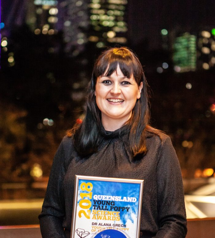 The Assistant Director of the ARC Centre of Excellence for Coral Reef Studies at James Cook University Dr Alana Grech has been recognised as the Queensland Young Tall Poppy Scientist of the Year. Credit: Judith Losh