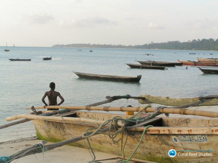 A Kenyan fisherman looking out to the sea. Credit: ARC CoE for Coral Reef Studies/ Joshua Cinner.