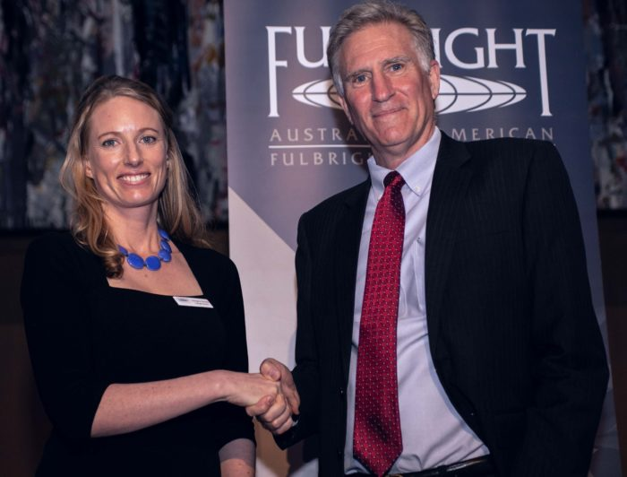 Dr Georgina Gurney at the Fulbright Gala Dinner in Canberra. Photo: Australian-American Fulbright Commission.