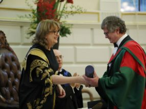Prof Terry Hughes receives honorary doctorate from Trinity
