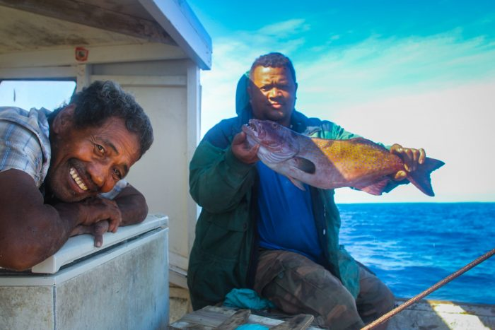 Tonga's Special Management Area (SMA) program gives communities the responsibility of looking after their own marine environment, including creating no-take Fish Habitat Reserves. Credit: Patrick Smallhorn-West.